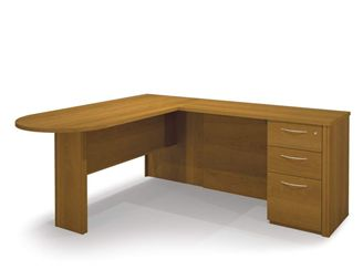 Picture of  L-Shape Workstation Kit With Drawers And Pedestals.