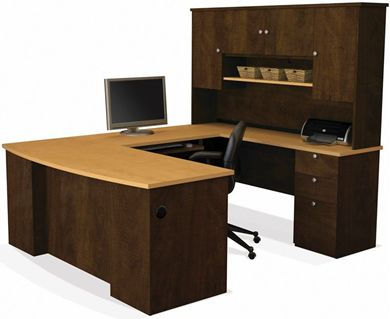 Picture of U-Shaped Workstation with Keyboard Shelf and Locking Drawers