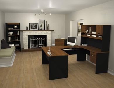 Picture of Workstation Kit With Hutch,Bookcase And Lateral File