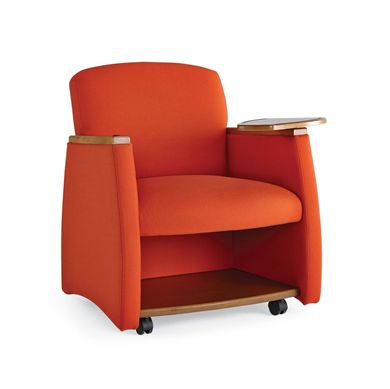 Picture of Reception Lounge Oversized Mobile Tablet Arm Club Chair