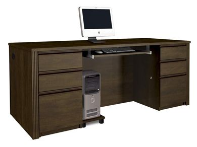 Picture of Executive Desk Set with Keyboard Shelf