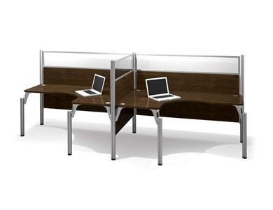 Picture of Double side-By-Side L-Desk Workstation