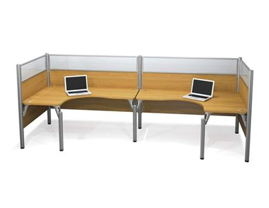 Picture of Double Back To Back L-Desk Workstation