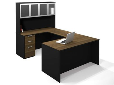 Picture of U-Shaped Workstation With Hutch And Pedestal