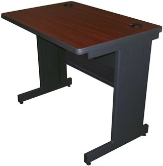 """Picture of 48""""W Steel Training Table with Modesty Panel with Wire Management"""