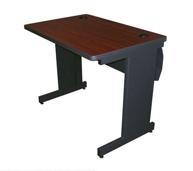 "Picture of 36""W Steel Training Table with Modesty Panel with Wire Management"
