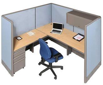 Ed 72 L Shape Cubicle Workstation