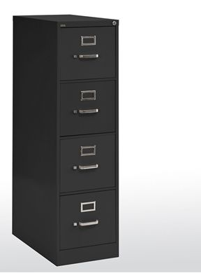 Picture of 4 Drawer Steel Vertical File, Locking