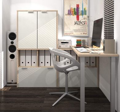"""Picture of 20"""" X 60"""" L-Shaped Desk"""