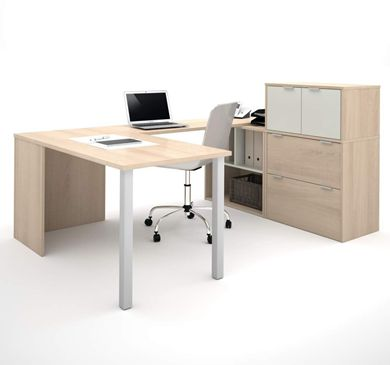 Picture of U-Shaped Desk With Lateral File Drawers