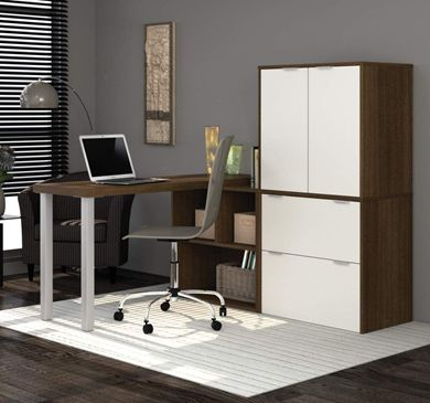 """Picture of 20"""" X 60"""" L-Shaped Desk With Drawers"""