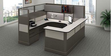 Picture of Electrified U Shape Reception Desk Cubicle Workstation