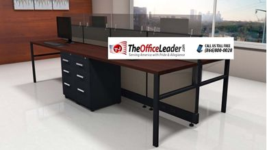 Picture of 4 Person Shared Cubicle Desk Workstation