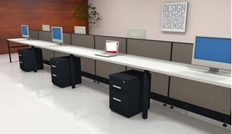 Picture of 12 Person Shared Cubicle Desk Workstation
