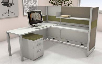 Picture of 6' x 6' L Shape Office Cubicle Desk Workstation
