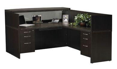 "Picture of Laminate 72"" L Shape Reception Desk Workstation"
