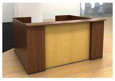 "Picture of 84"" Reception Desk with U Shape Privacy Panels"