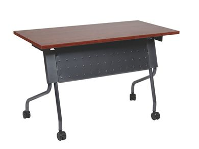 "Picture of 24"" x 48"" Mobile Nesting Training Table with Modesty Panel"