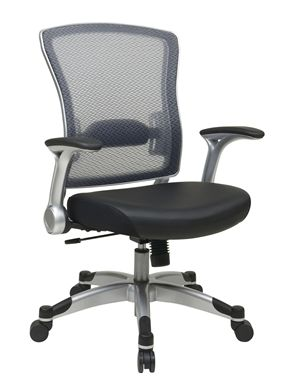 Picture of Professional Light Air Grid® Back Chair with Bonded Leather Seat