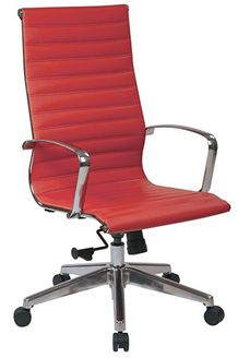 Picture of High Back Red Eco Leather Chair