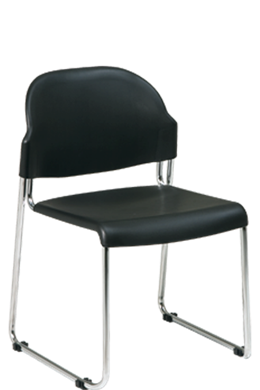 Picture of 4 Pack Plastic Seat and Back Stack Chair