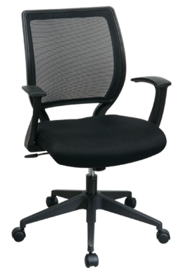 Picture of Screen Back Chair with Fabric Seat and Fixed Designer Arms