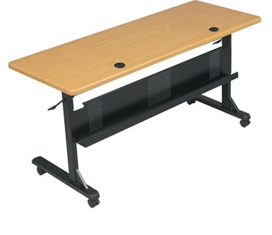"Picture of 60""W Mobile Nesting Training Table with Modesty Panel"