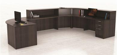Picture of U Shape Reception Desk Workstation with Filing Pedestals