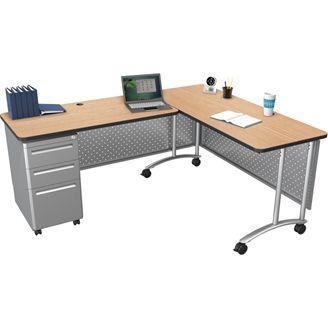 """Picture of  60""""W x 24""""D Teacher's Desk"""