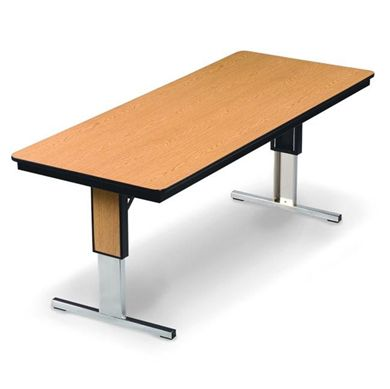 """Picture of 96""""W Height Adjustable Folding Meeting Table"""
