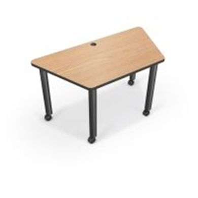 Picture of  Trapezoid Mobile Modular Training Table