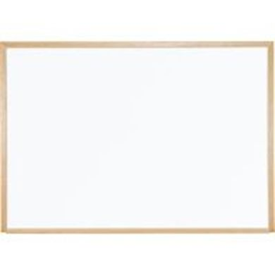 Picture of 1.5'H x 2'W Magnetic Steel Whiteboard With Wood Trim