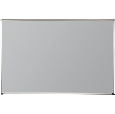 Picture of 4'H x 16'W Matte Gray Magnetic Porcelain Steel Board With Deluxe Aluminum Trim