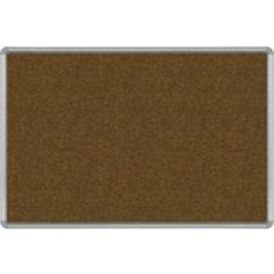 Picture of 4'H x 8'W  Natural Cork Tackboard With Silver Presidential Trim