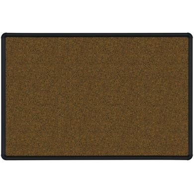Picture of 3'H x 4'W  Natural Cork Tackboard With Black Presidential Trim