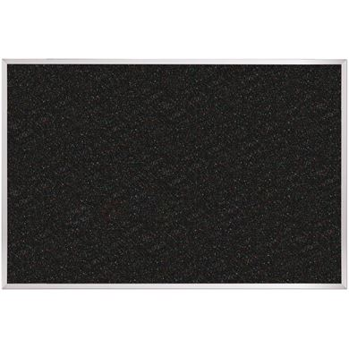 Picture of 4'H x 4'W Rubber Tackboard With Aluminum Trim
