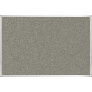 Picture of 4'H x 12'W Natural Cork Colored Tackboard With Aluminum Trim
