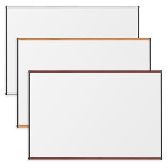 Picture of 4'H x 8'W Magnetic Porcelain Steel Whiteboards With Origin Trim