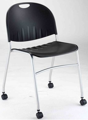 Picture of Mobile Armless Stack Chair, Poly Seat and Back