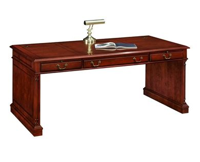 """Picture of Traditional Veneer 72""""W Table Desk"""