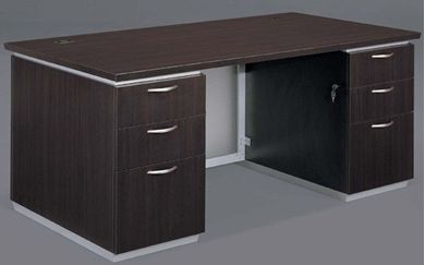 "Picture of Contemporary 72"" Double Pedestal Desk"