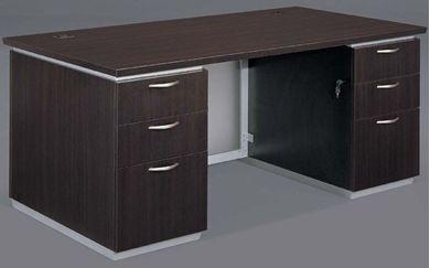 "Picture of Contemporary 66"" Double Pedestal Desk"