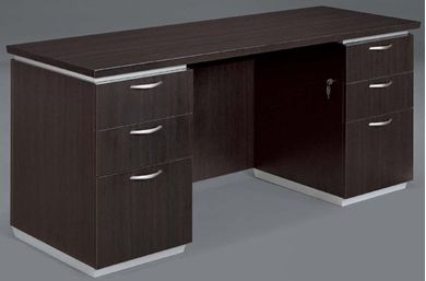 """Picture of 72"""" Contemporary Executive KneeSpace Credenza with Filing"""