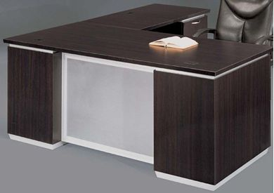 "Picture of Contemporary 72"" L Shape Office Desk with Filing Pedestals"