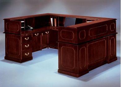 "Picture of Traditional Laminate 72"" U Shape Reception Desk Workstation"