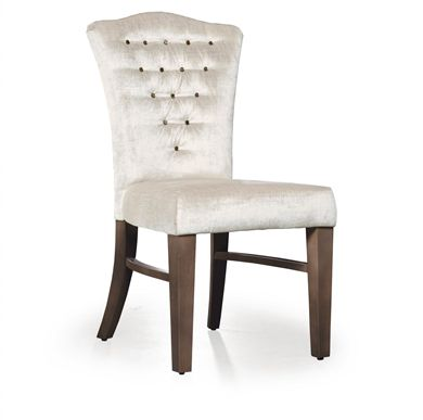 Picture of Armless Dining Cafe Chair with Wood Legs