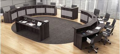 Picture of 12 Person Reception Desk Training Suite
