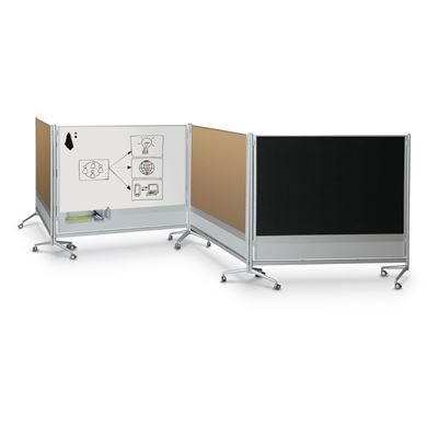 Picture of 6'H x 8'W Evolution Gray / Natural Cork Room Partition & Display Panel