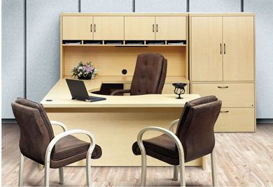 "Picture of 72"" U Shape Office Desk Workstation with Lateral File Storage"