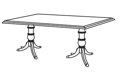 "Picture of 72"" Rectangular Traditional Conference Table"